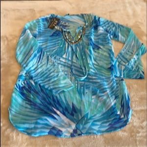 Sheer Tunic Top From ETC by Lazy Daisy Sz M NWT
